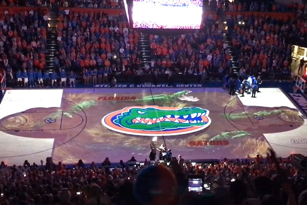 Projection Mapping | Gators Basketball Court Transformation