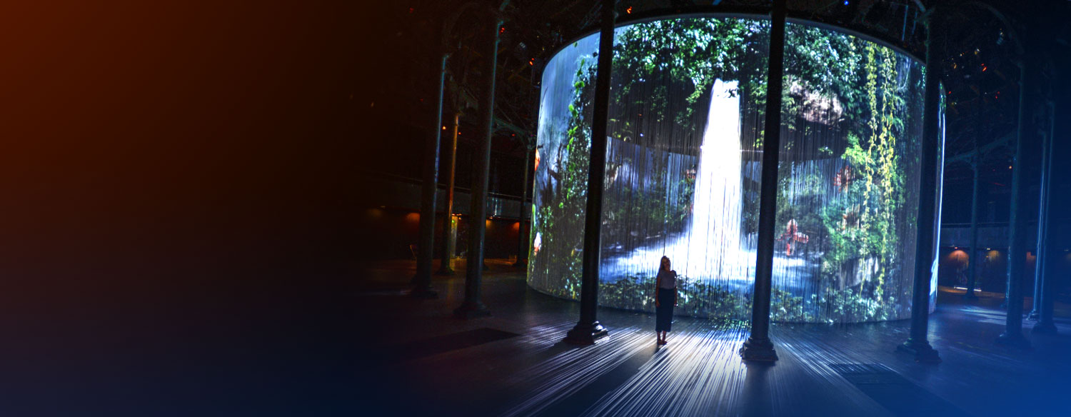 Projection Mapping - Waterfall 2
